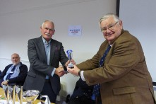 GW0WEE receiving trophy from VP G3WGM