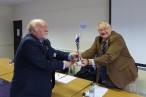 M0OIC receiving award from G3WGM