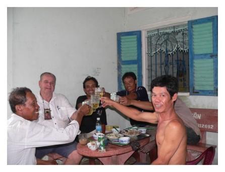 Mal enjoying the local hospitality